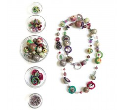 "Kit necklace ""Sautoir"" Kits necklace DIY - Sautoir - Green parma babachic"