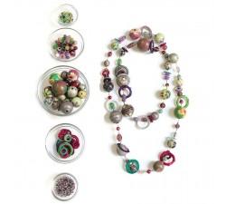 "Kit collier ""Sautoir"" Kits collier DIY - Sautoir - Vert parme babachic"