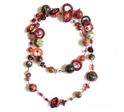 "Kit necklace ""Sautoir"" Kits necklace DIY - Sautoir - Red babachic"