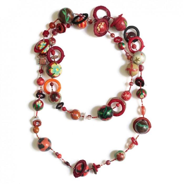 Kits collier DIY - Sautoir - Rouge