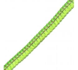 Galon de pampilles - Vert/Jaune fluo - 15 mm