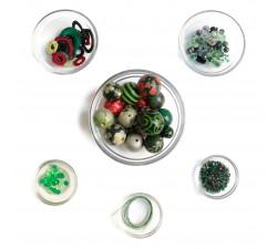 "Kit collar ""Sautoir"" Kits collar DIY - Sautoir - Verde y negro babachic"
