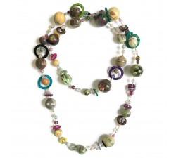 "Kit collar ""Sautoir"" Kits collar DIY - Sautoir - Verde agua babachic"