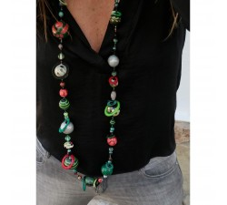 Kits collar DIY - Sautoir - Verde y negro