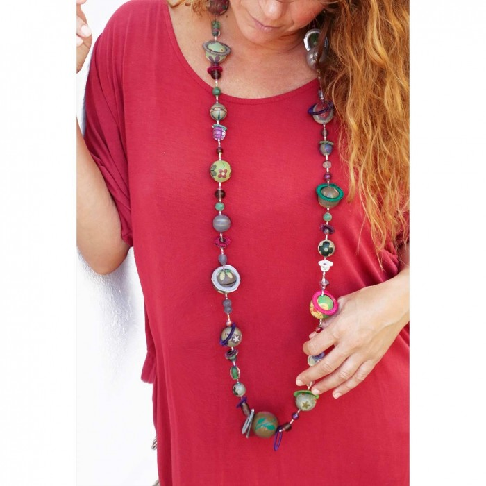 Kits collar DIY - Sautoir - Verde parma