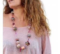 """Mid-short"" necklace kit Kits Midshort necklace - Grey pink babachic"