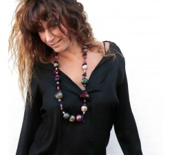 """Mid-short"" necklace kit Kit Midshort necklace - Black purple babachic"