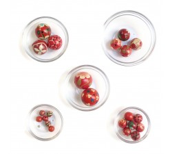 Beads mix Assortiment de perles en bois - Rouge
