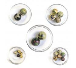 Mix de cuentas Assortiment de perles en bois - Fleurs