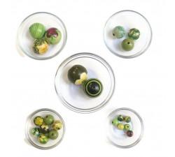 Mix Perles Assortiment de perles en bois - Vert