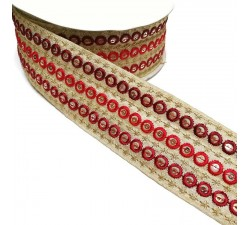 Embroidery Graphic embroidery - Chain - Red - 45 mm babachic