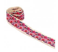 Broderies Galon indien - Duo - Rose - 45 mm babachic