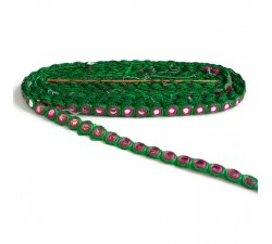 Braid Gallon eyelet - Mirrors - Green and pink - 15 mm