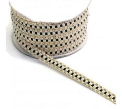 Braid Ethnic braid - Black - 10 mm babachic