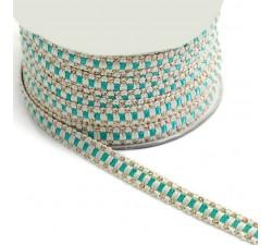 Braid Ethnic braid - Blue - 10 mm babachic