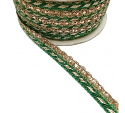 Braid Imperial braid - Green - 10 mm babachic