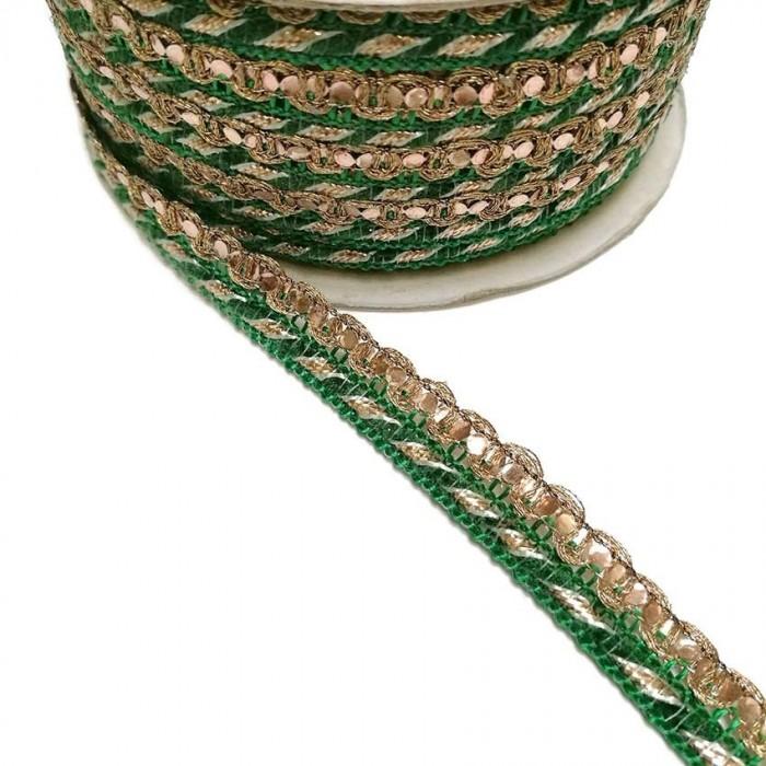 Imperial braid - Green - 10 mm