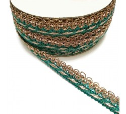 Braid Imperial braid - Blue green - 10 mm babachic