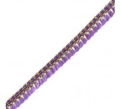 Flecos Cinta de flecos de color lila - 15 mm