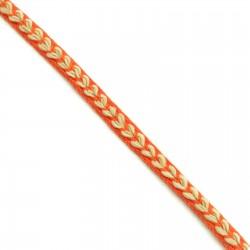 Braid Ribbon Heart - Orange - 7 mm
