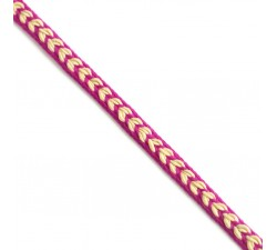 Braid Ribbon Heart - Fuchsia - 7 mm