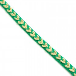 Braid Ribbon Heart - Green - 7 mm