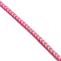 Braid Ribbon Heart - Pink- 7 mm