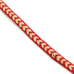 Braid Ribbon Heart - Red - 7 mm