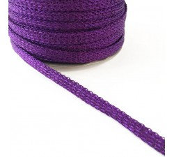 Braid Glazed ribbon - Purple - 7 mm babachic