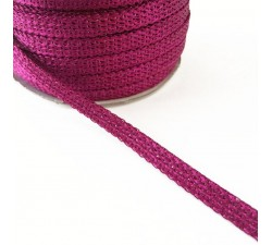 Braid Glazed ribbon - Fushia - 7 mm babachic