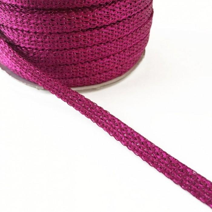 Glazed ribbon - Fushia - 7 mm
