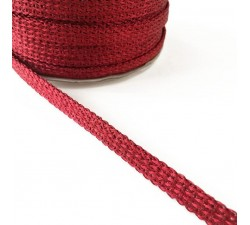 Braid Glazed ribbon - Red - 7 mm babachic