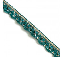 Braid Indian braid - Blue green - 10 mm babachic