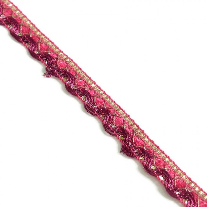 Indian braid - Pink - 10 mm