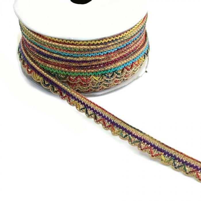 Indian braid - Multicolor - 10 mm