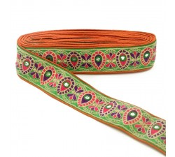 Embroidery Indian border - 60 mm