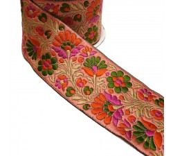 Embroidery Embroidered Ribbon - Salmon Orange - 65 mm