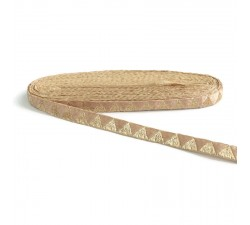 Braid Golden ribbon in lurex thread in the shape of a triangle - 15 mm
