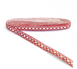Braid Mirrors ribbon - Red - 18 mm