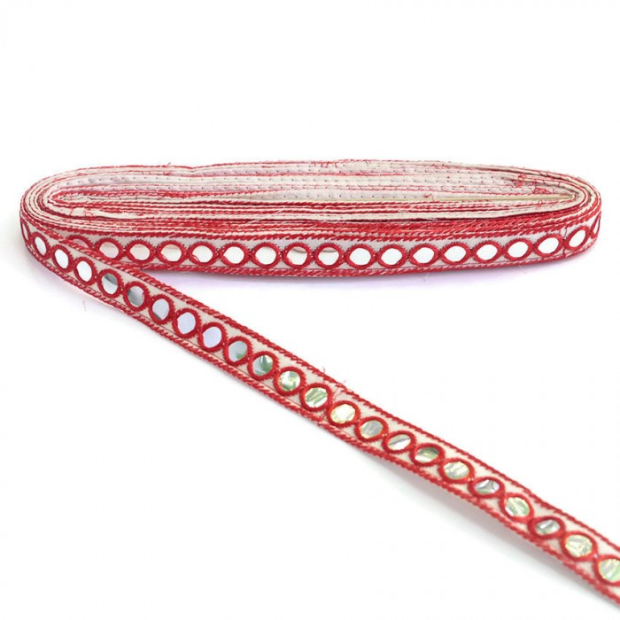 Mirrors ribbon - Red - 18 mm