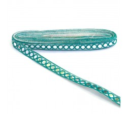 Braid Mirrors ribbon - Lagoon - 18 mm