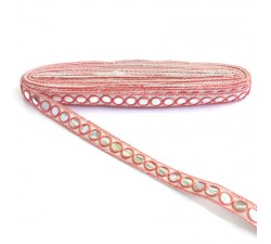 Braid Mirrors ribbon - Salmon - 18 mm