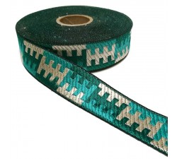 Graphic ribbon - Turquoise - 30 mm