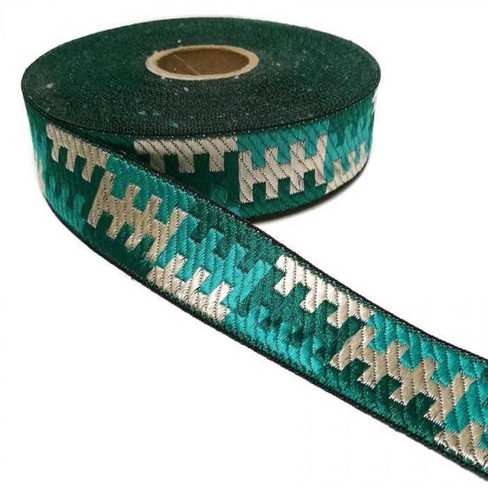 Ruban graphique - Turquoise - 30 mm