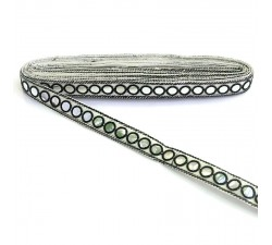 Braid Mirrors ribbon - Black - 18 mm