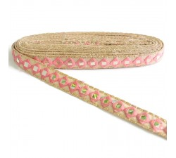 Embroidery Mirrors braid - Baby pink - 25 mm