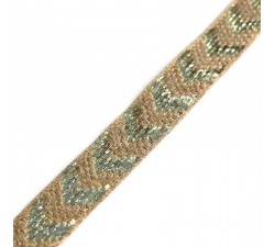 Galon chevron en jute - 25 mm