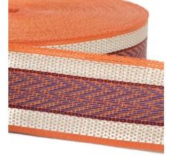 Straps  Recycled plastic orange strap 55 mm  SA55-019