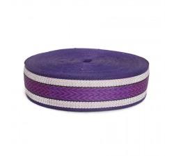 Straps  Recicled plastic purple strap - Chevron - 55 mm  SA55-020