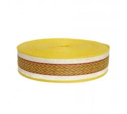 Recycled plastic yellow strap - Chevron - 55 mm